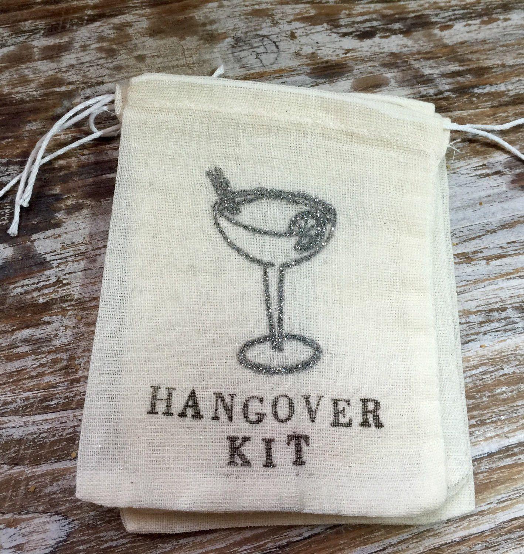 10 silver glitter mini hangover kits, margarita hangover kits ...
