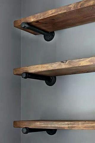 Rustic Bathroom Inspirations Schwebende Regale