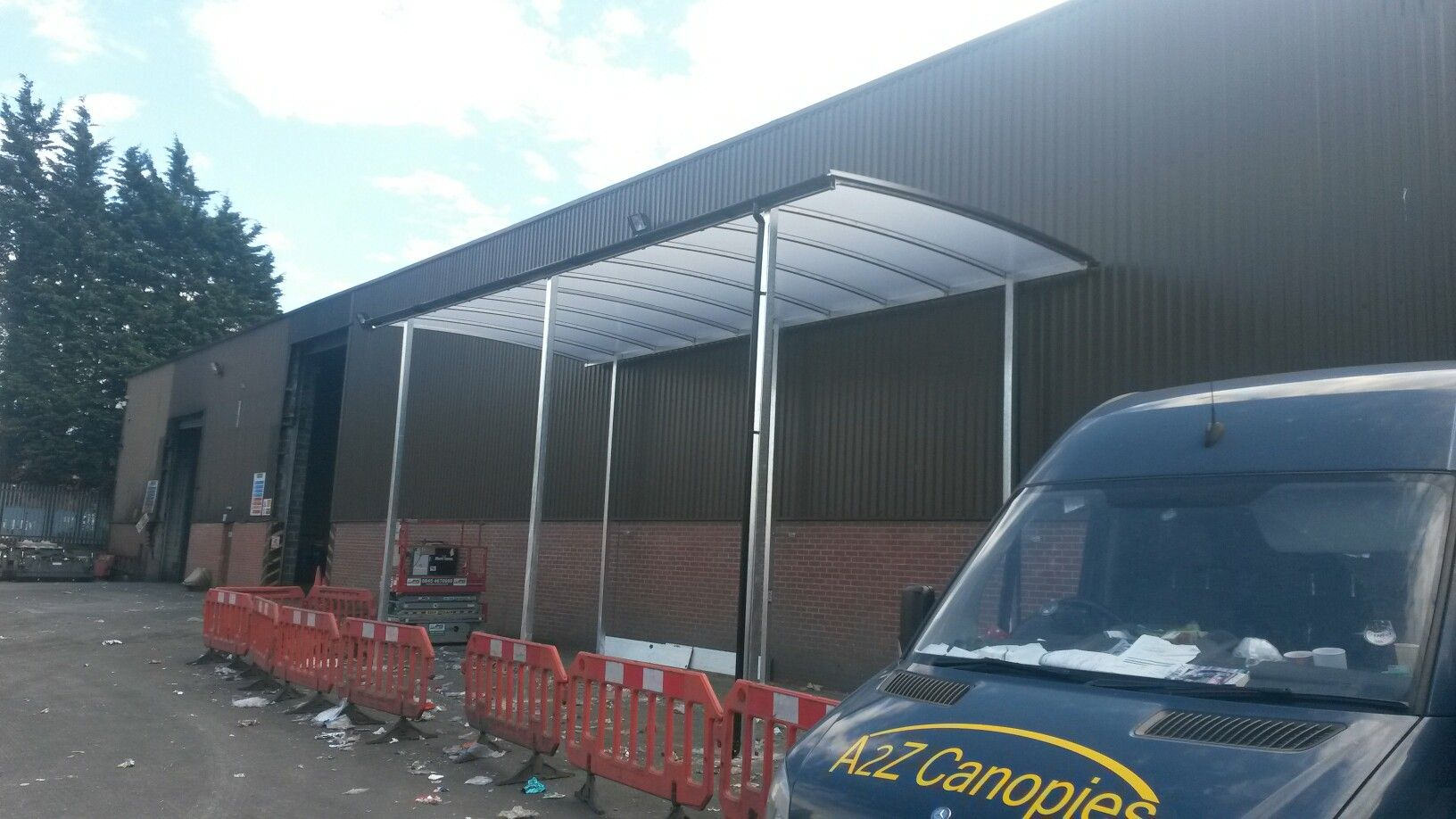 5 metre tall archway canopy fitted by a2z canopies & 5 metre tall archway canopy fitted by a2z canopies | Archway ...