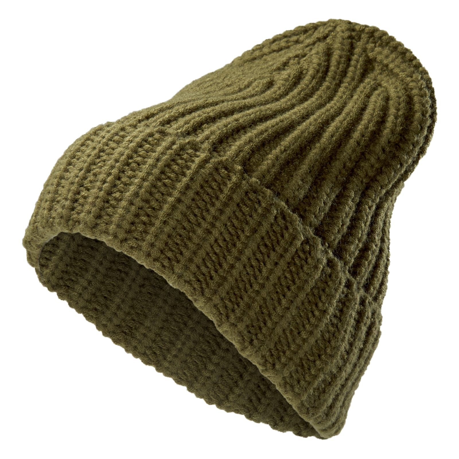 Photo of Fairy Olive Green Chunky Knit Montagna Beanie | In stock! | Fawler