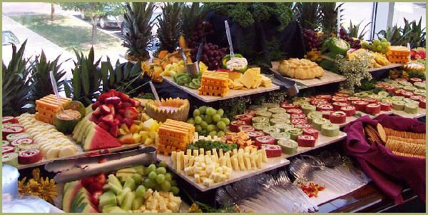 Fruit And Cheese Buffet Table