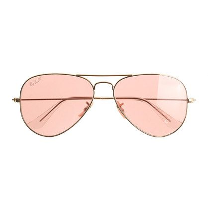 ray ban aviators glass lenses  ray ban? original aviator sunglasses with polarized pink lenses j.crew