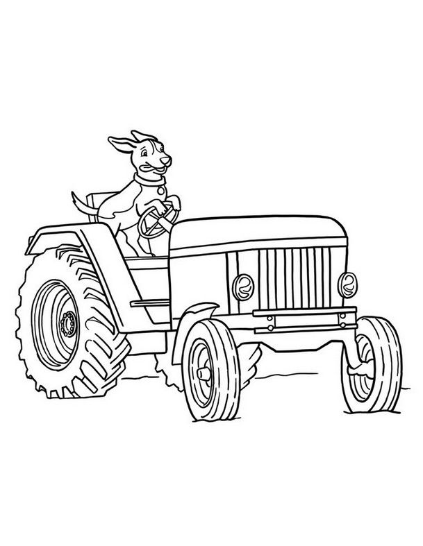 coloring page tractors free   Coloring Board   Pinterest   Tractor ...