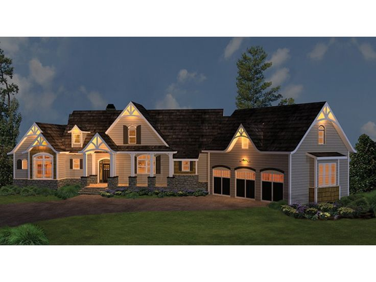 Ranch House Plan With 2498 Square Feet And 3 Bedrooms From Dream Home Source House Plan Code Dhsw075891 Basement House Plans Garage House Plans Craftsman Style House Plans