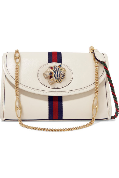 b0fed2ff02 Gucci - Rajah Small Embellished Leather Shoulder Bag - White in 2019 ...