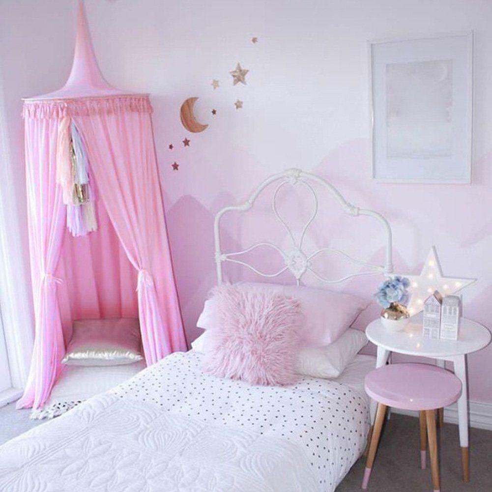 Pueri Bett Baldachin Betthimmel Moskitonetz Dome Prinzessin Zelte Für Baby  Kinder (Rosa)