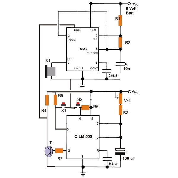 Simple ic 555 eng timer with buzzer circuit diagram electronic simple ic 555 eng timer with buzzer circuit diagram sciox Image collections