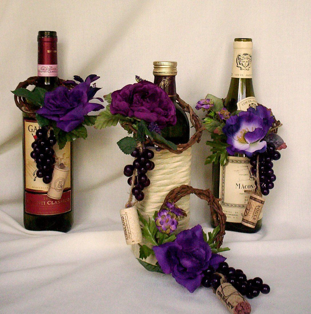 Vineyard Weddings Decoration Set Of 8 Wine BottleToppers