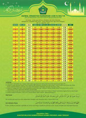 Jadwal Imsak Ramadhan 1438 2017 Kemenag Download Kota Islam