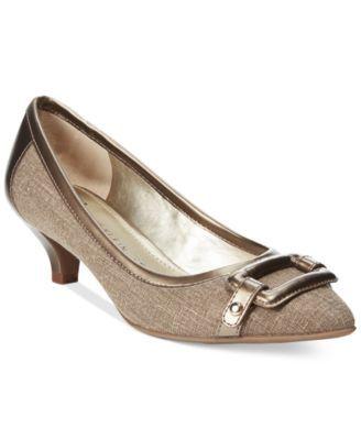 618d5772b1 Anne Klein Melanie Pointy Toe Kitten Pumps | macys.com | shoes ...