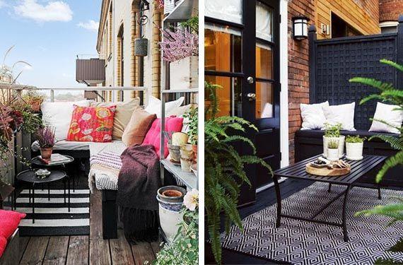 Sacale partido a tu peque o balc n en verano gardens - Decoracion de balcones pequenos ...