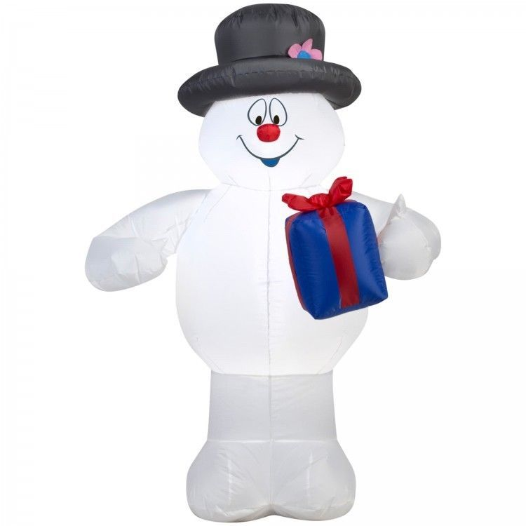 Frosty the Snowman Lighted Yard Decor Outdoor Christmas Inflatable - inflatable christmas yard decorations
