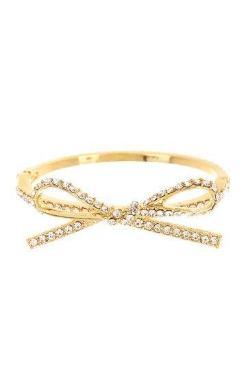 Crystal Bow Bangle Bracelet by t+j Designs on @HauteLook