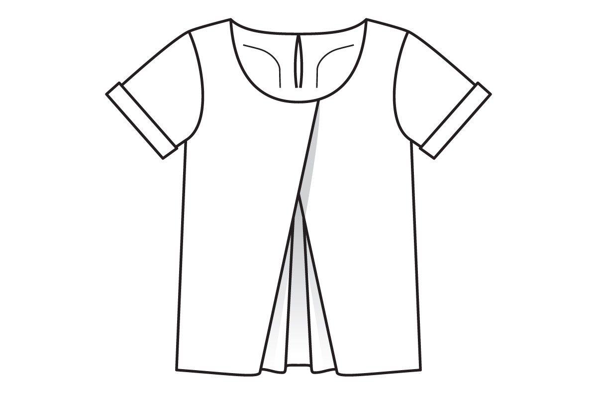 8f331ad71db Блузка со встречными складками - выкройка № 101 из журнала 5 2016 Burda – выкройки  блузок на Burdastyle.ru