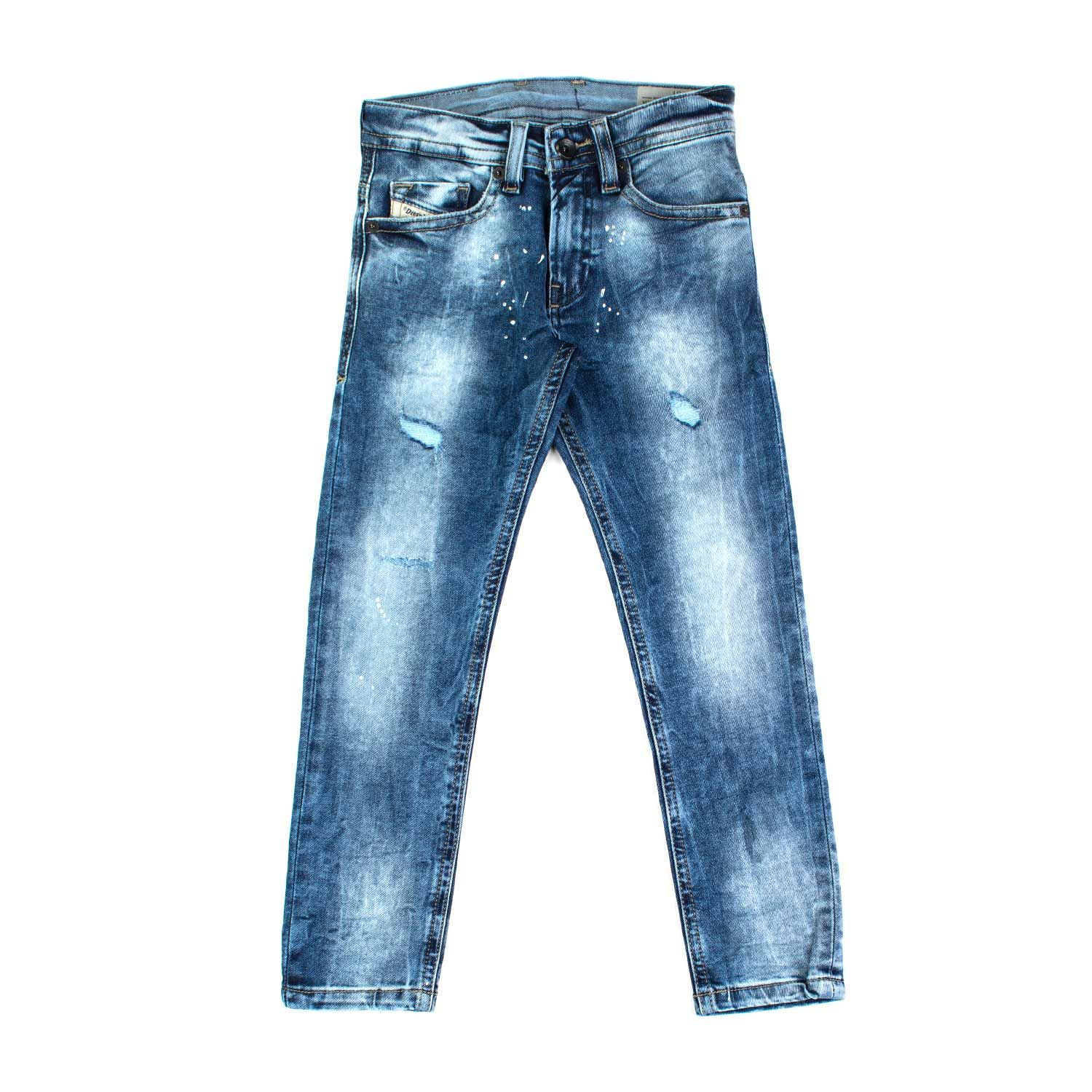 newest collection 5b7d9 f31f9 Diesel - Jeans Stone Washed Bambino Teen - Jeans chiaro con ...