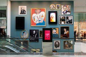 So Ouest Espace Haut De Gamme Mur De Portrait Ouest Point De Vente