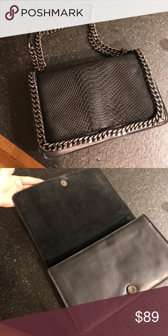 00a98fde8b Zara silver chain bag Silver chain Chanel inspired Zara Bags Shoulder Bags