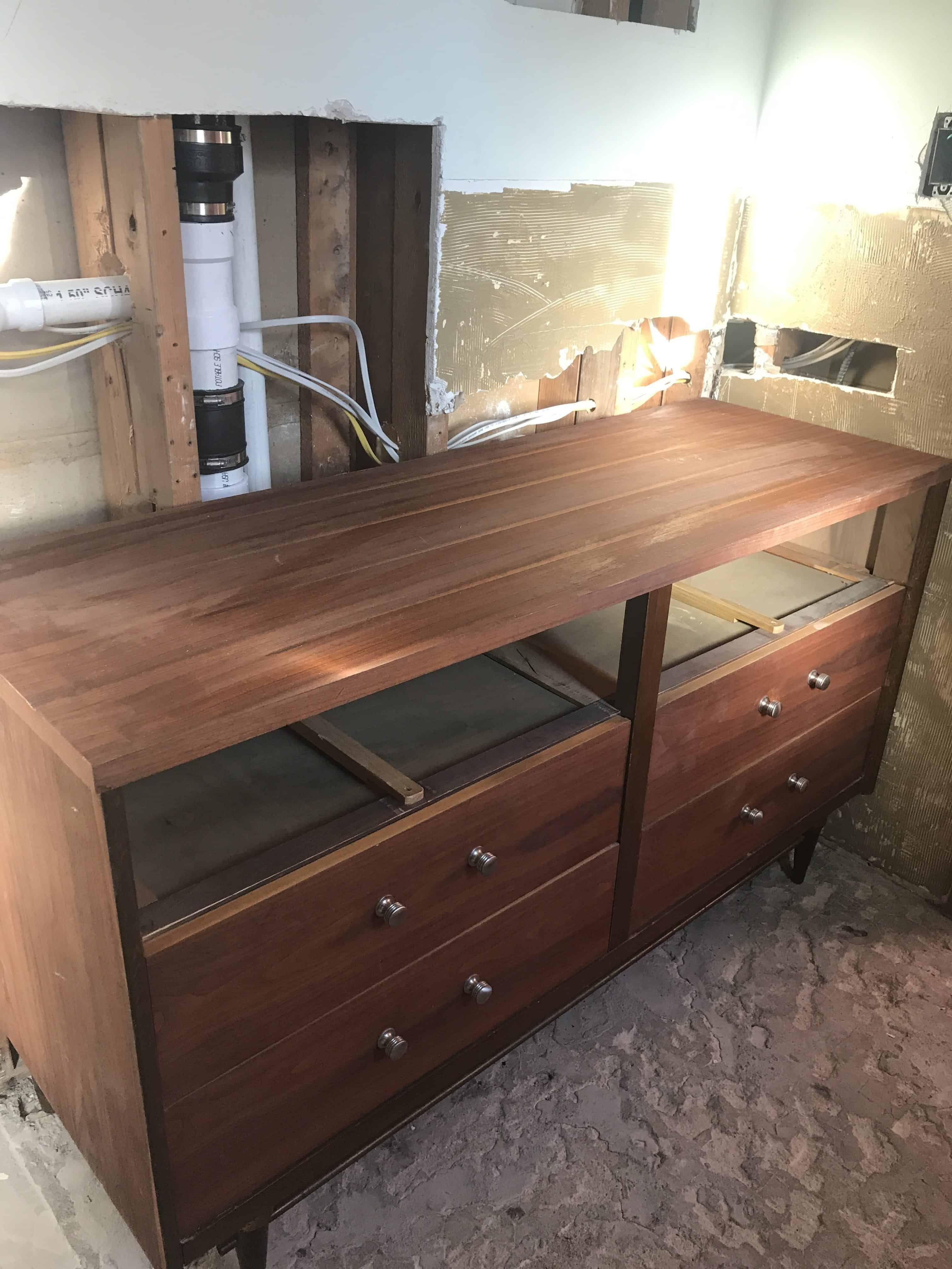 Best Mid Century Dresser Into Vanity Dresser Vanity Bathroom 400 x 300