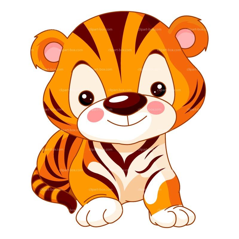 cute tiger clip art clipart cute baby tiger royalty free vector rh pinterest co uk  cute baby tiger clipart