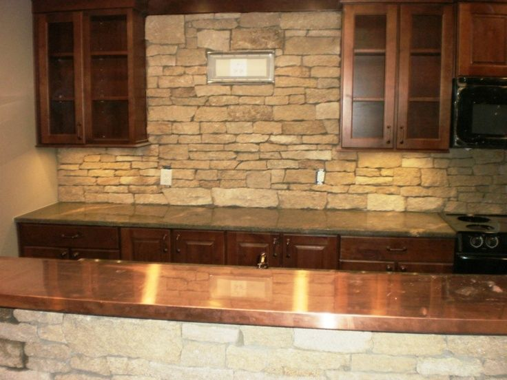 Rock backsplash stone backsplash designs for your Granite kitchen design ideas