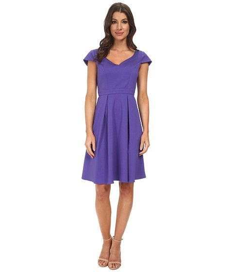 Adrianna Papell Seam Detail Pleat Fold | Womens dresses ...