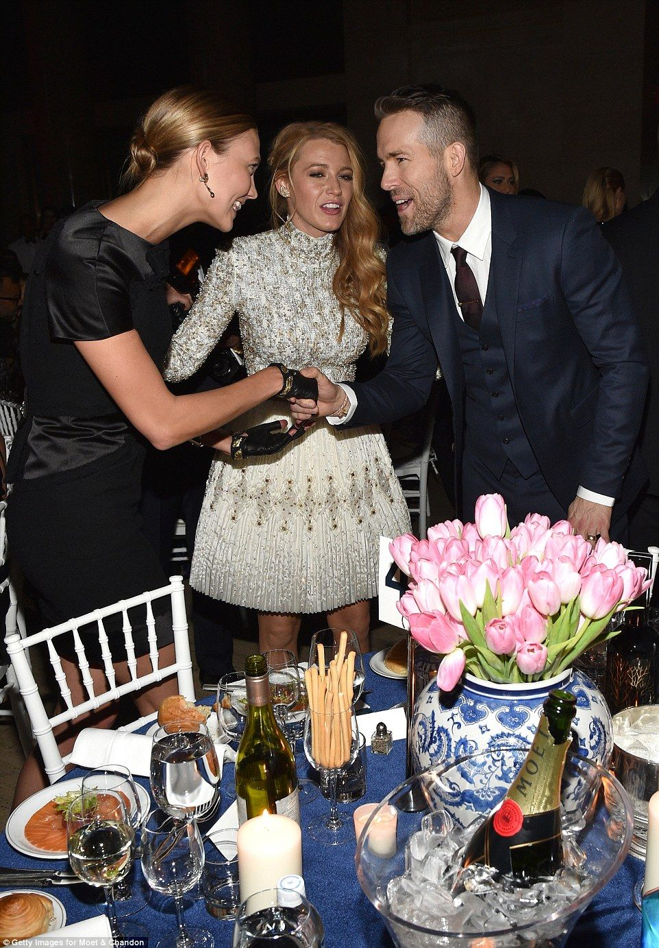 Blake Lively stares lovingly into the eyes of husband Ryan