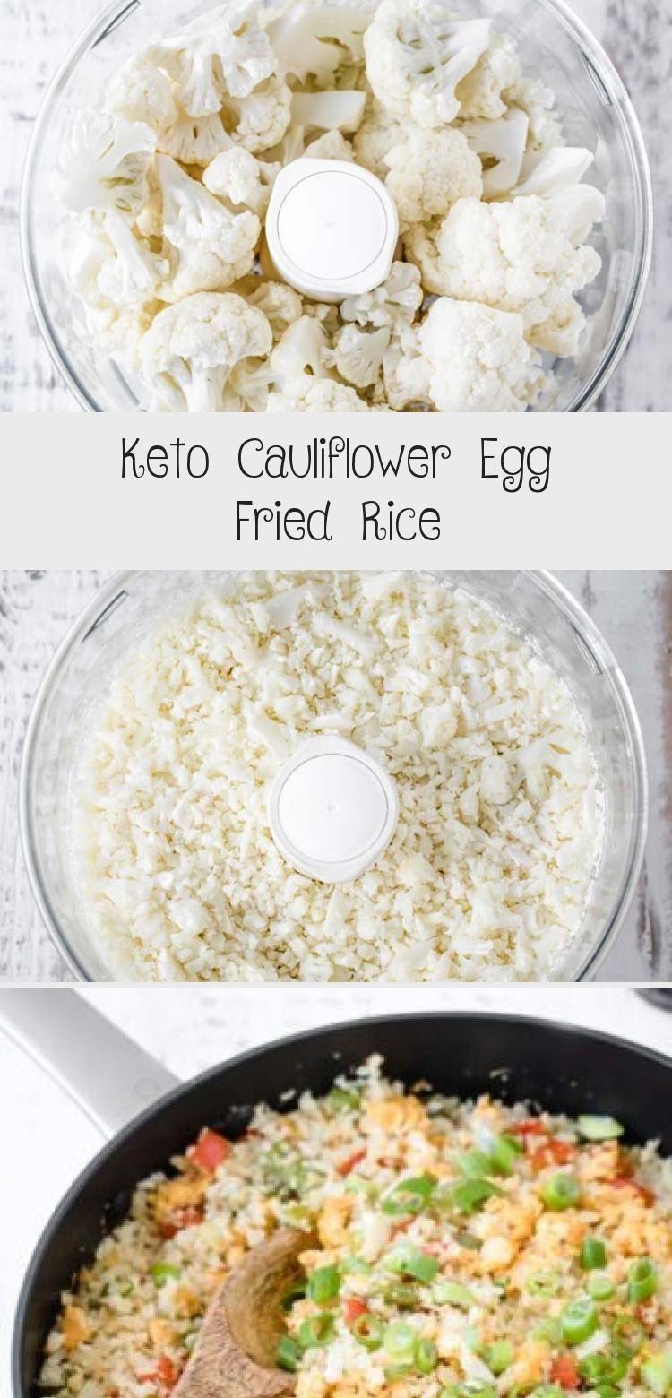 Gebratener Reis mit chinesischem Ei nach Keto-Art! Dieser gebratene Keto-Reis verwendet Blume...