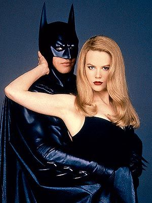 Publicity shot of Val Kilmer and Nicole Kidman Batman Forever (1995).