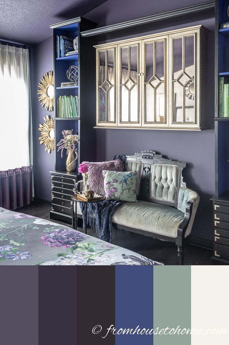 GREAT ideas for painting a master bedroom purple. I love ...