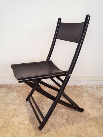 cuir noires lits pliantes et Chaises italiennesAssises lKF3T1uJc