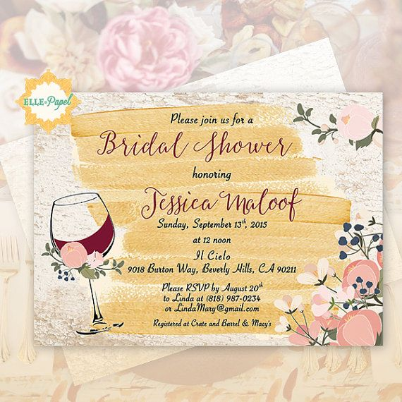 Wine Themed Invitation Bridal Shower Rustic Invite Vineyard Style Bridal Shower Wine Bridal Shower Wine Theme Wine Themed Invitations