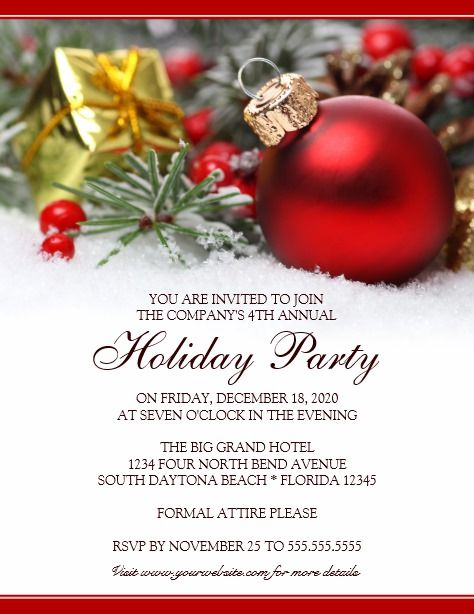 Corporate Holiday Party Invitation Holiday Party Invitations - holiday party invitation