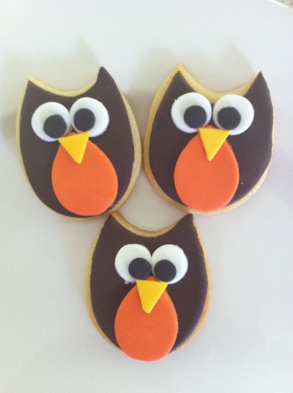 Owl Decorated Cookies My Owl Cookies No Source Orange Cutter Ideas Animal Owl