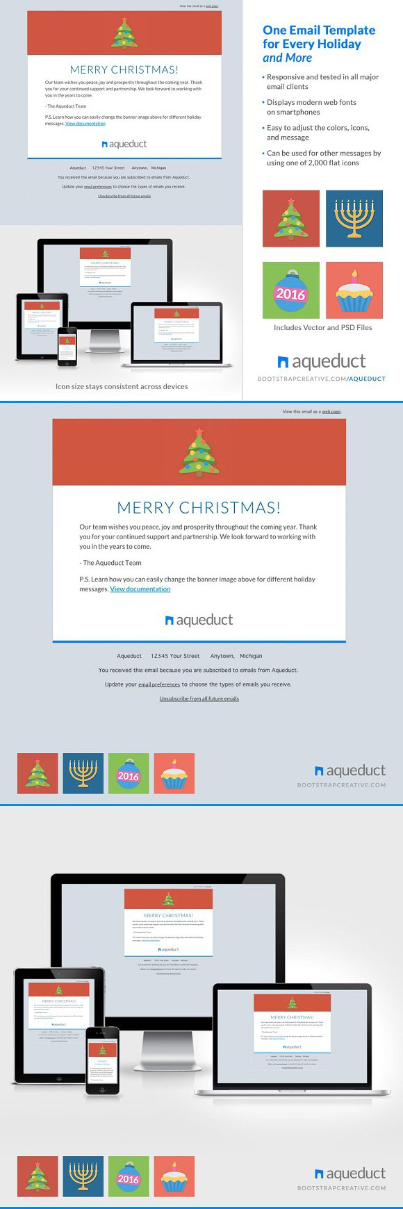 Holiday Email Template Mailchimp Pinterest Christmas Icons - Mailchimp holiday templates