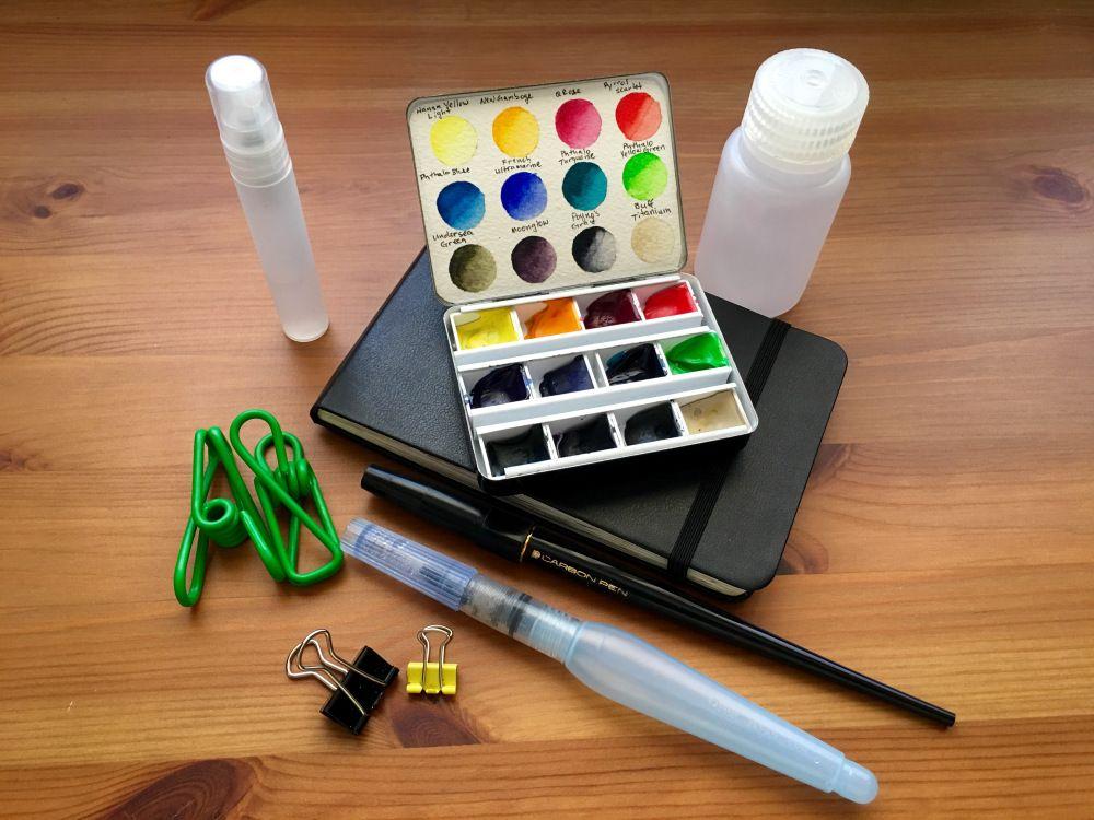 Doodlewash Review Metal Travel Palettes Watercolor Kit