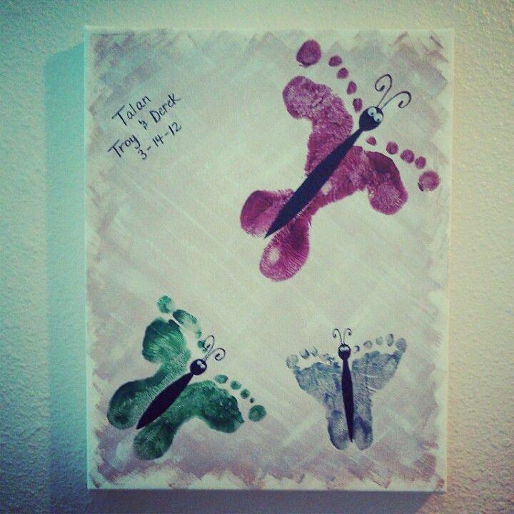 Foot print crafts for children