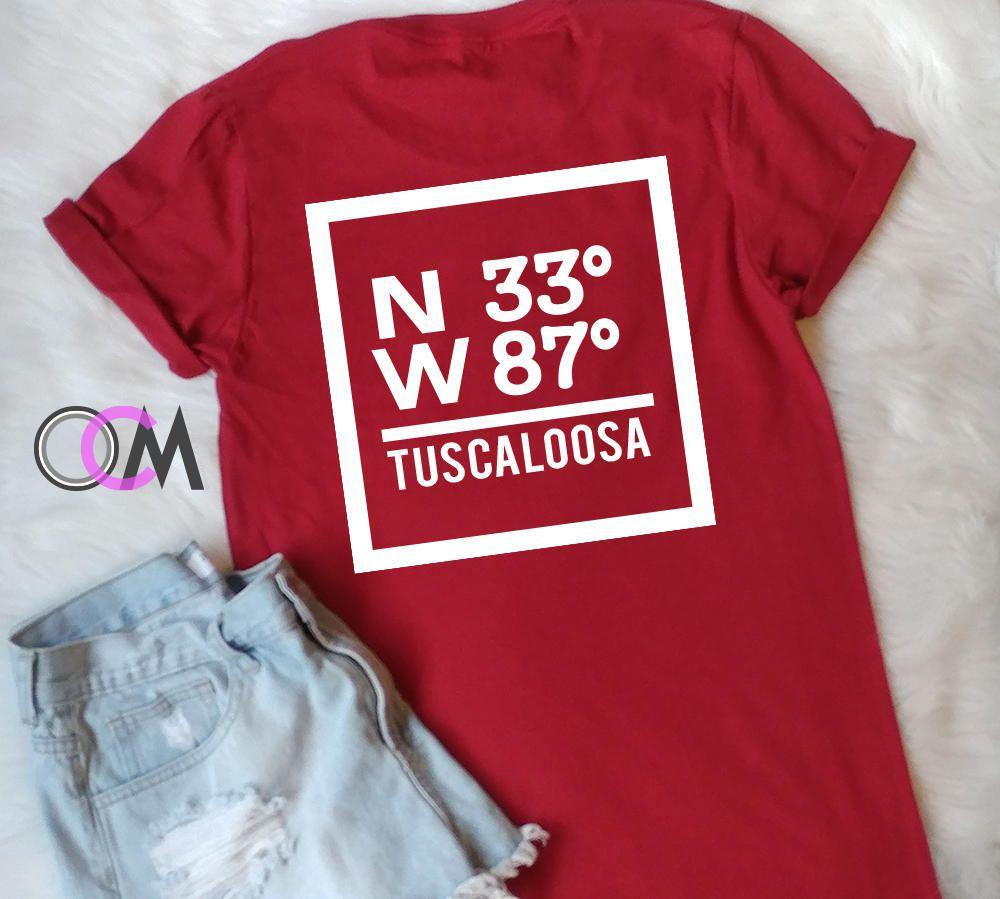 Tuscaloosa Coordinates Shirt Coordinates T Shirt Alabama Crimson