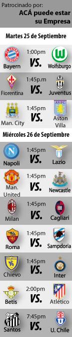 Fútbol recomendado para la semana    http://blogueabanana.com/deportes/91-futbol/759-futbol-recomendado-25-al-26-de-septiembre.html