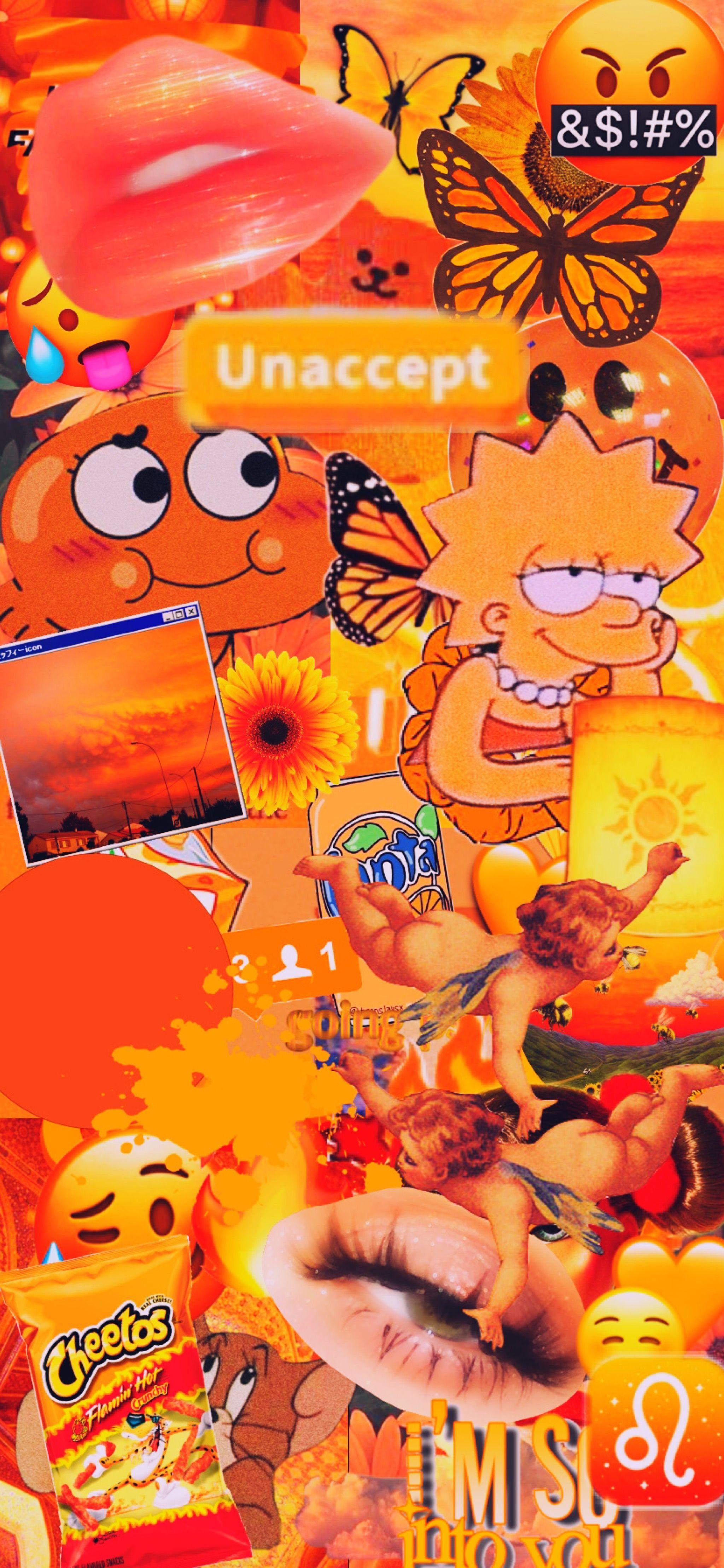 orange iphone xr cute wallpaper aesthetic