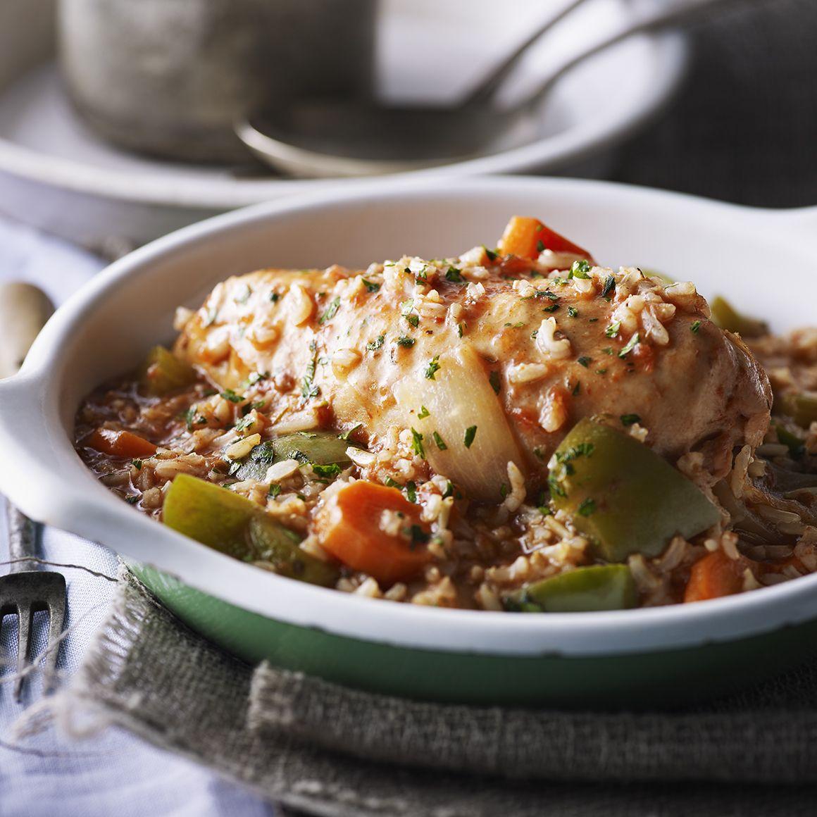 Poulet créole avec riz
