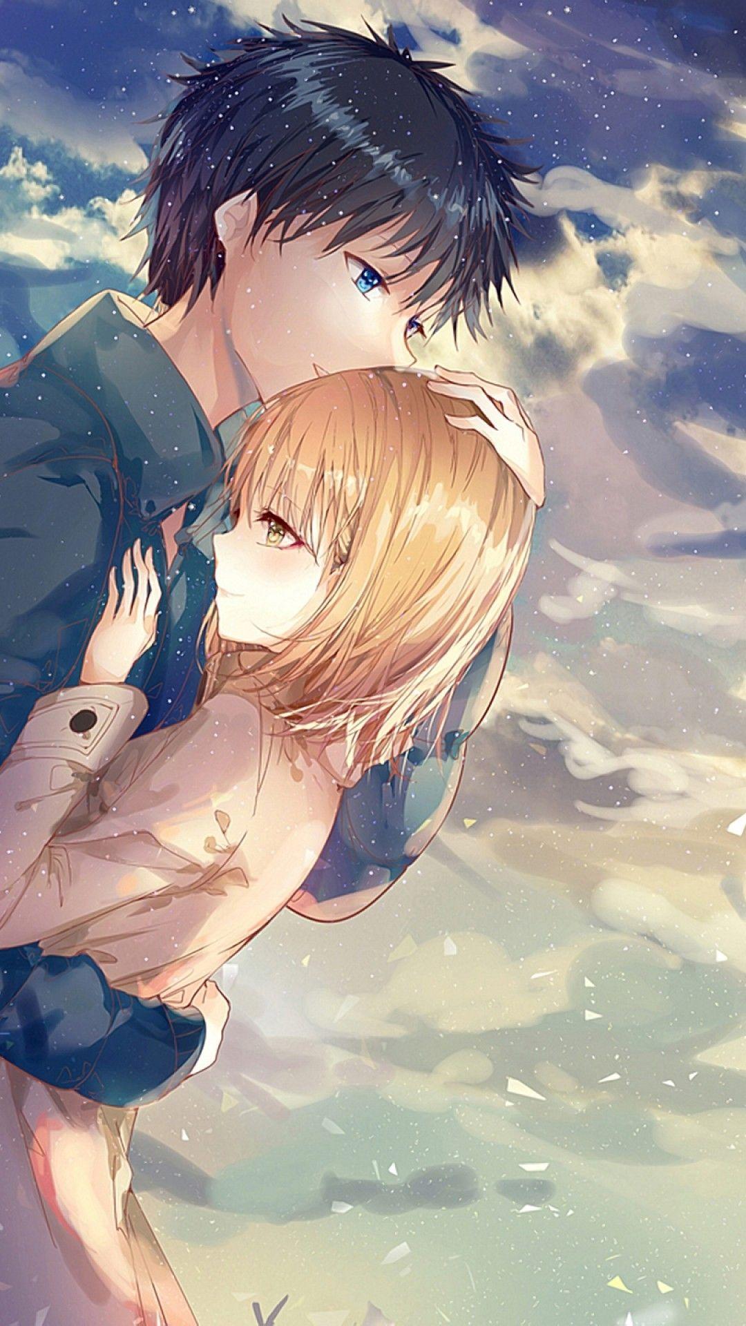 Download wallpaper anime couple hd
