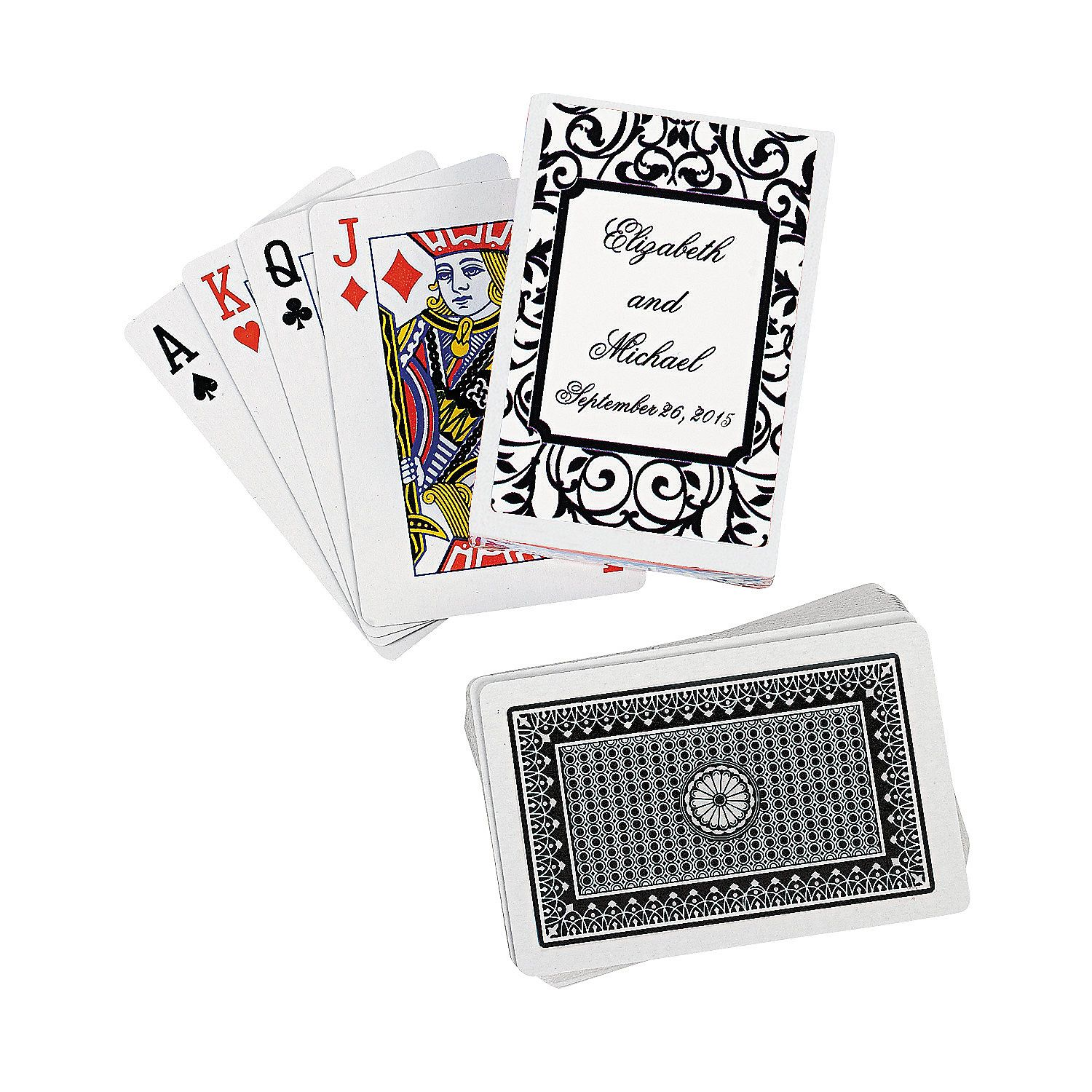Black & White Personalized Playing Cards - OrientalTrading.com ...
