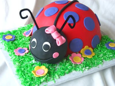 Ladybug Cake with a Bright Twist
