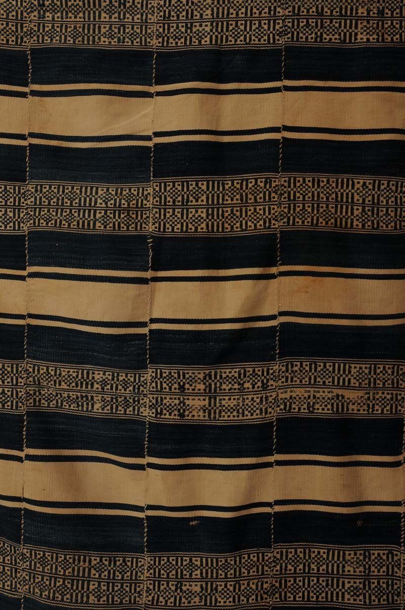 Africa | Wrapper ~ bokolanfini ~ from the Bamana people of