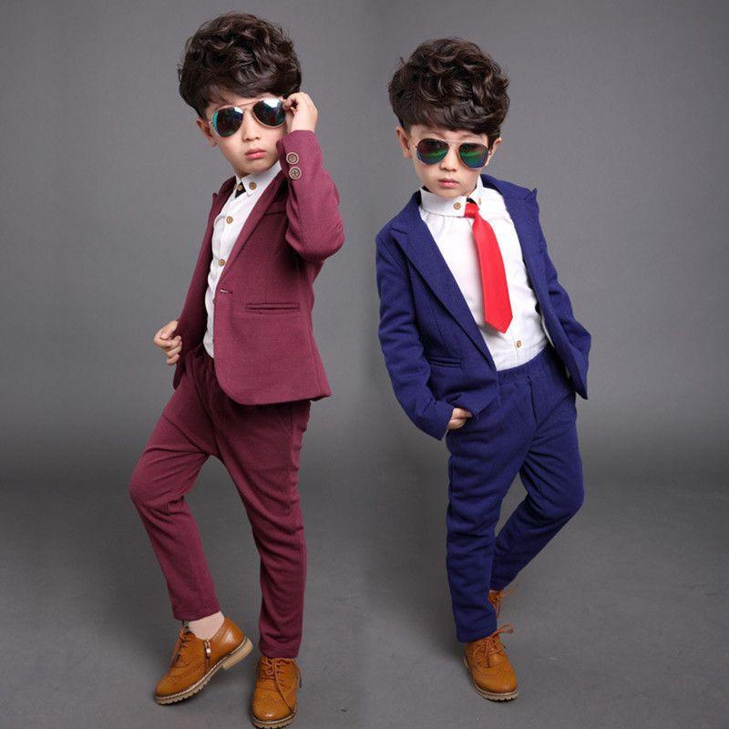 Pas Cher Enfants Vetements Garcons Costume Formel Ensemble Epaisse Toison De Mariage Gentleman Outfit Costumes Boys Wedding