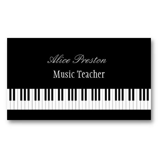 Professional Music Teacher Piano Keys Business Card Zazzle Com Teacher Business Cards Music Business Cards Music Teacher