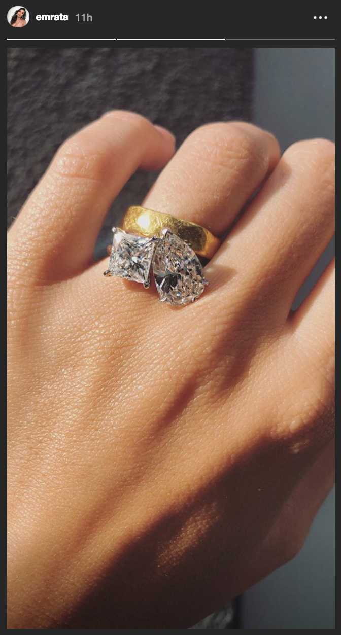 Emily Ratajkowski Finally Gets a Mega Two-Stone Engagement Ring - 4 Months  After Her Wedding fc9c544179fe