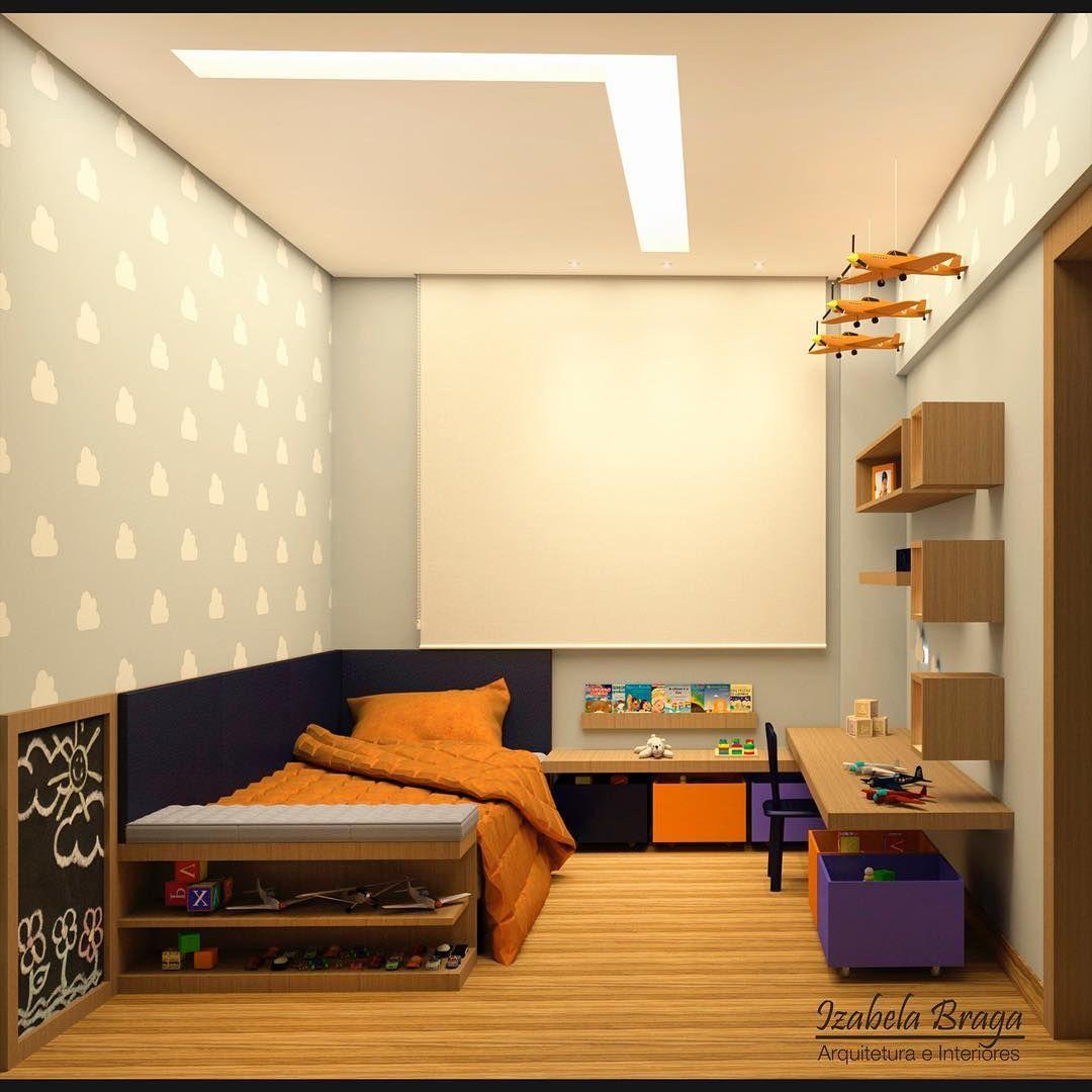 45 отметок «Нравится», 1 комментариев — Izabela Braga (@izabelabraga.arquitetura) в Instagram: «Quarto de menino 🚙☁️✈️ Mais um pouquinho deste quarto que adorei fazer! Clientes especiais! ❤…»