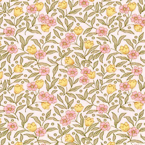 Sevenberry Petite Fleurs - Tulip Garden - Pastel Pink