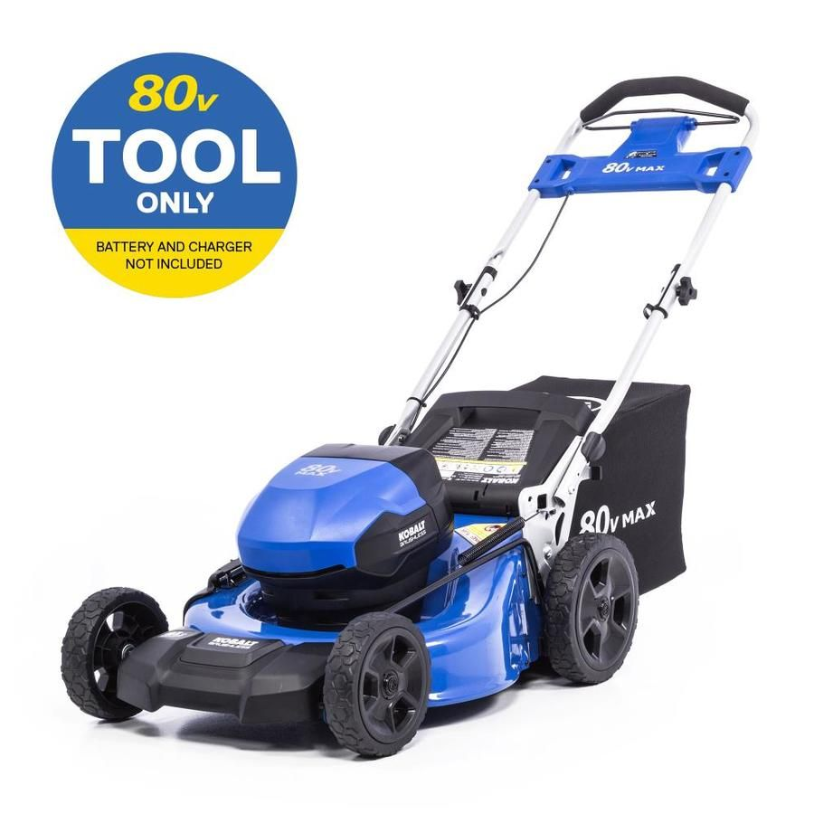 Kobalt 80 Volt Max Brushless Lithium Ion Push 21 In Cordless Electric Lawn Mower Km 2181 06 In 2020 Lawn Mower Lawn Mower Battery Cordless Mower